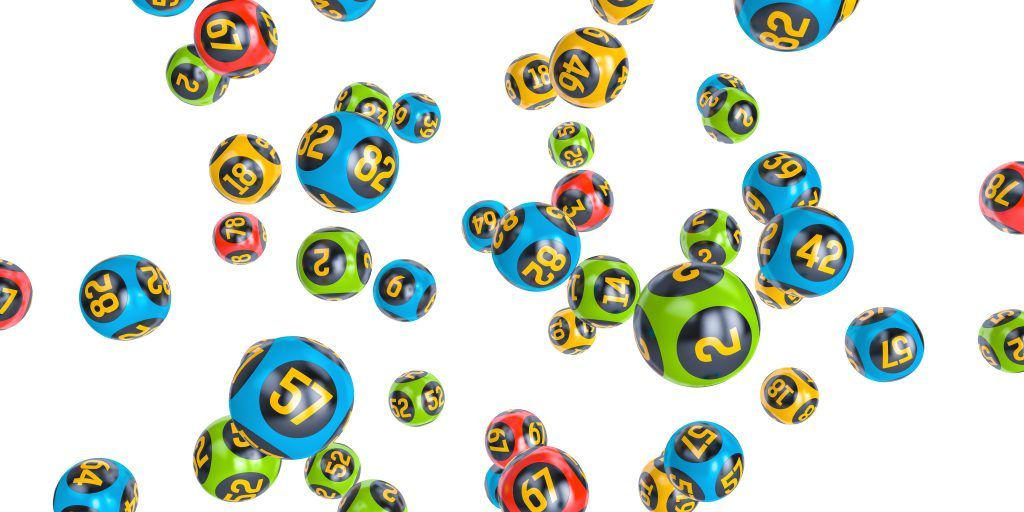 Lots of different colour lottery balls